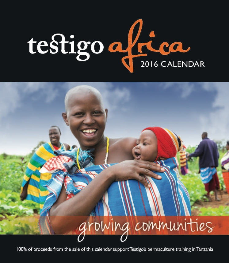 Photo of the 2016 desktop calendar front cover