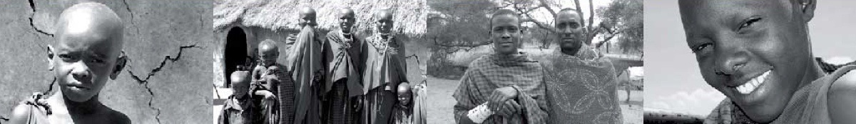 Images of African Masai used as a unique image for each page